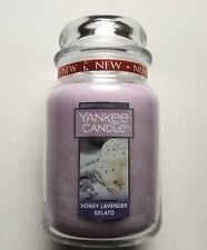 Yankee Candle ~ HONEY LAVENDER GELATO ~ 22oz Large Jar *Free Expedited Shipping*