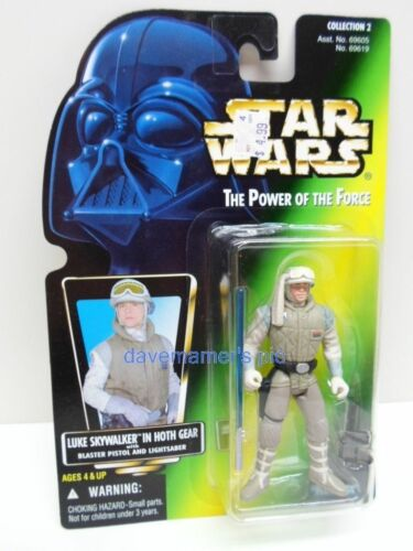 Star Wars Power Of The Force II 2 GREEN Card Carded Figures 1996 1997 Kenner