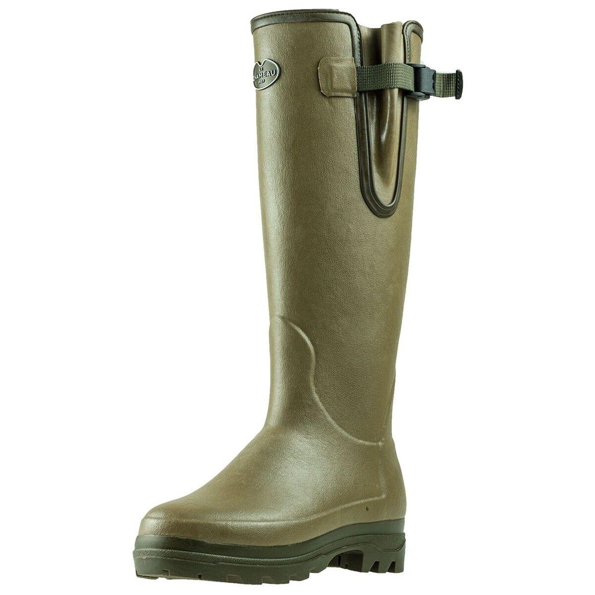 Le Chameau Vierzonord Womens Green Rubber Wellington Boots - 41 EU