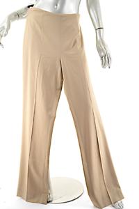 RALPH LAUREN Beige Wool Stretch Twill Clean Front Pant w Side Seam Zip  US10 NWT
