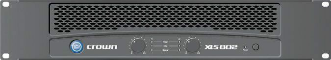 Crown XLS 802 Professional 1000 Watt Rack Mount Power Amp Ex Demo