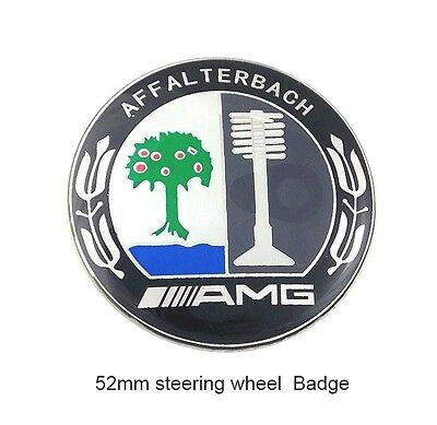 2 pc Alloy AMG STEERING WHEEL Sticker Badge Logo Aluminium for All Series