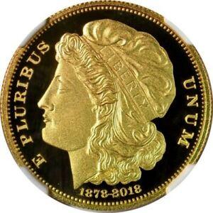Smithsonian-PROOF-1878-2018-Morgan-10-Eagle-FINE-gold-PF70-UC-NGC-228-COA-SALE