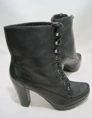 CIRCA JOAN & DAVID Women's LUXE Black Leather Lace