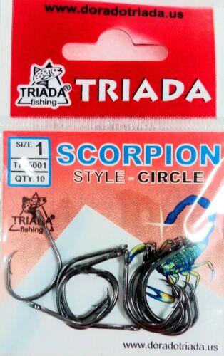 Size 1 circle hooks Triada Scorpion