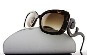 RARE Genuine PRADA Square Baroque Dark Havana Sunglasses SPR 27O 2AU 6S1 PR 27OS