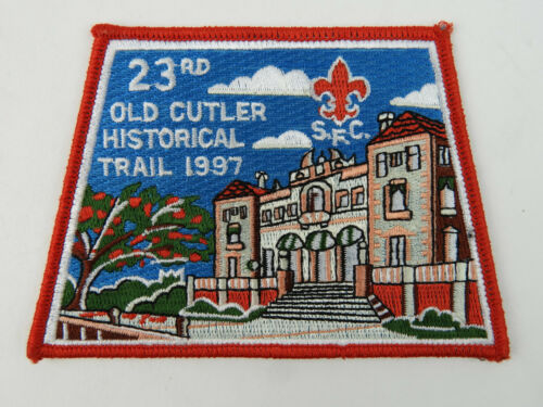 1997 Boy Scout 23rd Old Cutler Historical trail embroidered patch