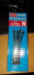 N-Gauge-Peco-ST-5-No-1-Radius-R-H-Turnout-Insulfrog