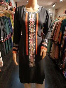 Indian-Pakistani-Shalwar-Kameez-Salwar-Suit-Dress-Wedding-Designer-Kurta-Grey
