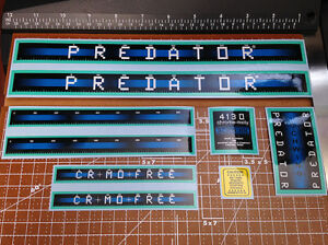 "1983-1984 Schwinn BMX 20/"" Predator Vintage Restoration Decal Set Blue /& Yellow"