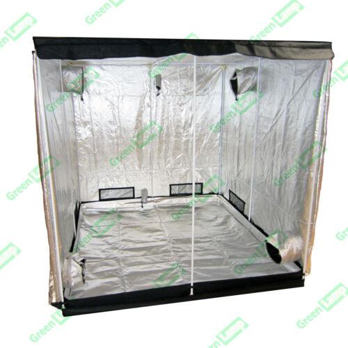 Premium 2,4 m x 1,2 m x 2m 600D argent mylar grow tent box la culture hydroponique chambre noire