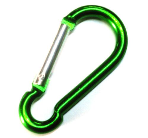 "Gift Idea 6pcs 3/"" Aluminum Carabiner D-Ring Key Chain Clip HOOK GREEN US SELLER"
