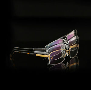 d92edcfd47 Image is loading New-Mens-Pure-Titanium-Half-Rimless-Eyeglasses-Frames-
