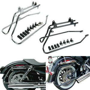 Rear Turn Signal Indicator Relocation Brackets fit Harley with Saddlebags