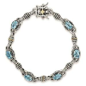 Shey-Couture-925-Sterling-Silver-w-14k-Swiss-Blue-Topaz-Antiqued-Bracelet-7-25-034