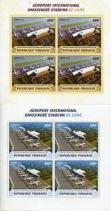 Togo-2015-neuf-sans-charniere-International-Airport-Gnassingbe-Eyadema-Lome-4V-m-s-x-2-AVIATION