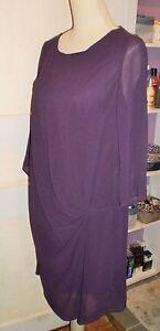 VILA-Magnifique-robe-NEUVE-couleur-prune-violet-taille-L-40-42