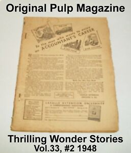 Thrilling-Wonder-Stories-Original-Pulp-Magazine-Vol-33-2-1948-No-Front-Cover