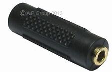 GOLD 3.5mm Stereo Jack to Stereo Jack Coupler Joiner Female Adaptor Mini Plug