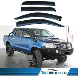 Window-Visors-Weather-shields-for-Toyota-Hilux-Double-Cab-2005-2014-SR-SR5