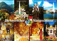 Die bayerischen Königsschlösser ,ungelaufene AK