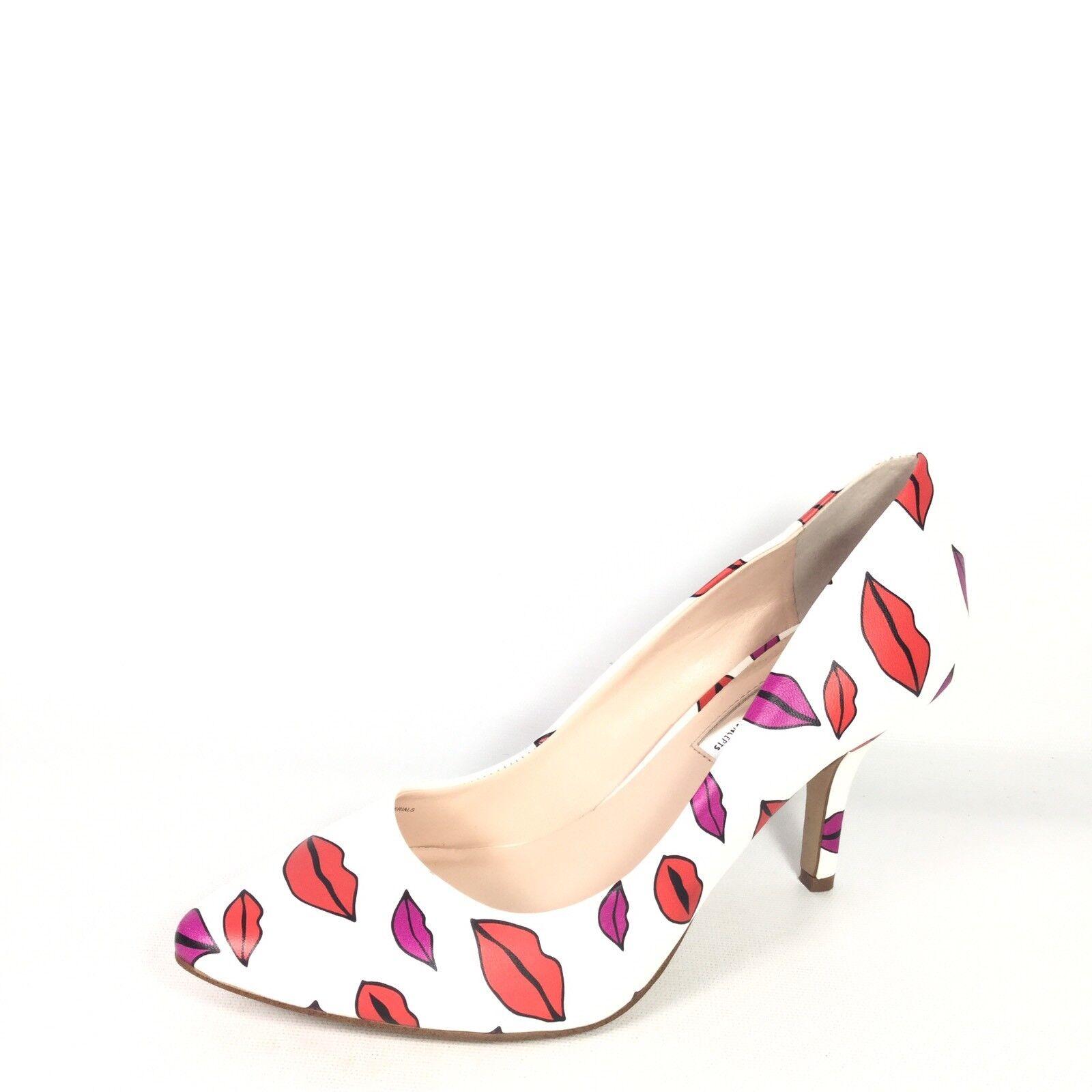 International Concepts Zitah Womens Size 7.5 M Lips  White Pump Dress shoes.