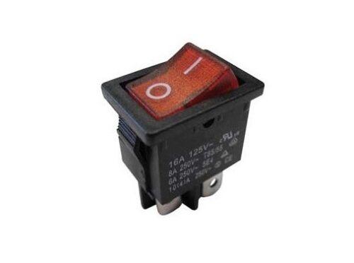 Interruttore a bilanciere 220V 3A bipolare rosso luminoso 12V switch 21x15 1257