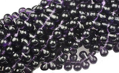 100 Deep Purple Czech Glass Tear Drop Beads 6MM