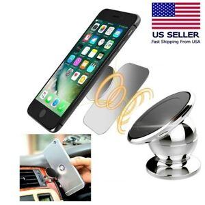 1/2 Pack Magnetic 360° Car Dash Mount Ball Dock Holder For Cell Phone Universal