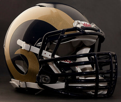NAVY BLUE *CUSTOM* ST LOUIS RAMS Riddell SPEED Football Helmet Facemask