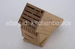 Image Is Loading Wusthof 22 Slot Knife Block Beechwood Swivel