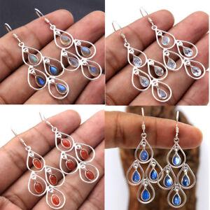 Kyanite-Labradorite-Carnelian-Gemstone-925-Sterling-Silver-Dangle-Earring-av0007