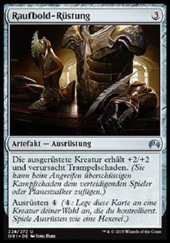 4 Brawler/'s Plate mint Magic Origins, deutsch Raufbold-Rüstung