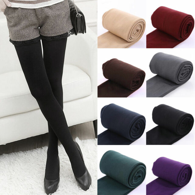Women Winter Warm Fleece Lined Leggings Stretch Pants Thermal Trousers Thick Hot