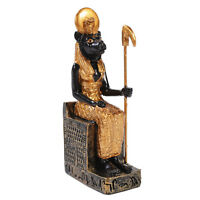 Sekhmet Statue Sachmis Ancient Egyptian Goddess Hunter Figurine Small 3 Sitting
