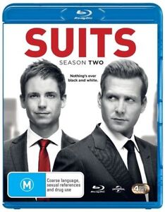 Suits-Season-2-Blu-ray-2014-3-Disc-Set-Excellent-Condition