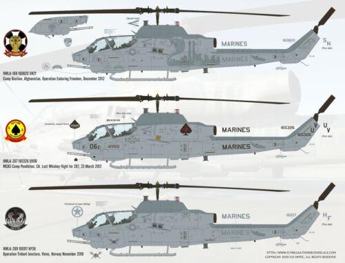 Flying Leathernecks Decals FL48018 1//48 AH-1W Shots of Whiskey Kittyhawk Italeri