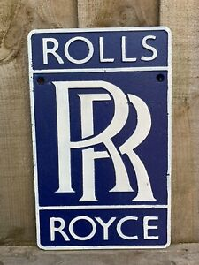 Rolls Royce Logo Aluminium Metal Sign Wall Plaque Car Garage Workshop Man Cave