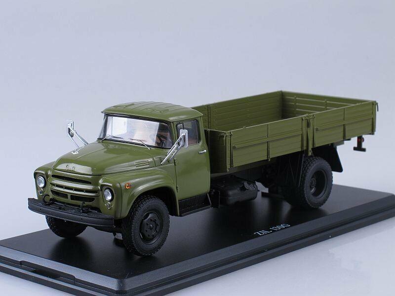 Scale model truck 1 43 ZIL-130G khaki