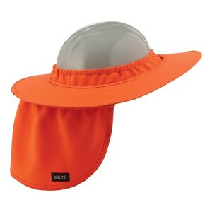 Ergodyne Hard Hat Full Brim Sun Shield with Neck Shade, Orange