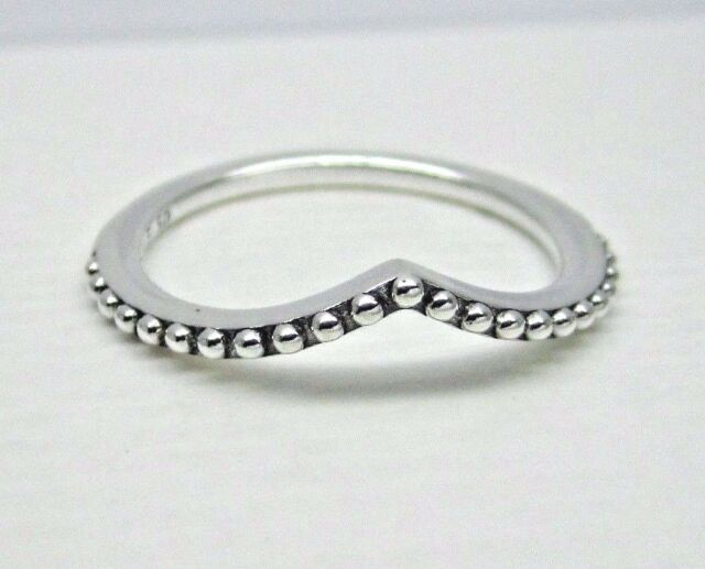 ee2498415 Authentic PANDORA Beaded Wish Ring in Sterling Silver 196315-54 EU 7 ...
