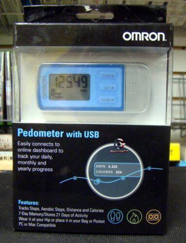 New Omron HJ322U Tri Axis Activity Pedometer HJ-322U USB Download 22 Day Memory