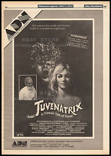 REJUVENATRIX aka JUVENATRIX__Original 1988 Trade AD / horror movie promo/ poster