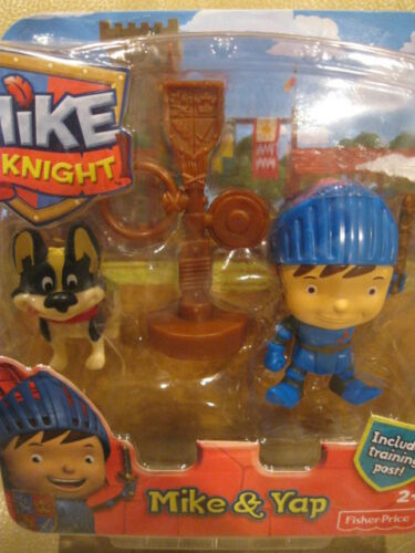 Training Post and Yap Figure Pack New Fisher-Price Mike the Knight Mike