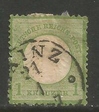 Germany 1872 1kr green Imperial Eagle (7) used