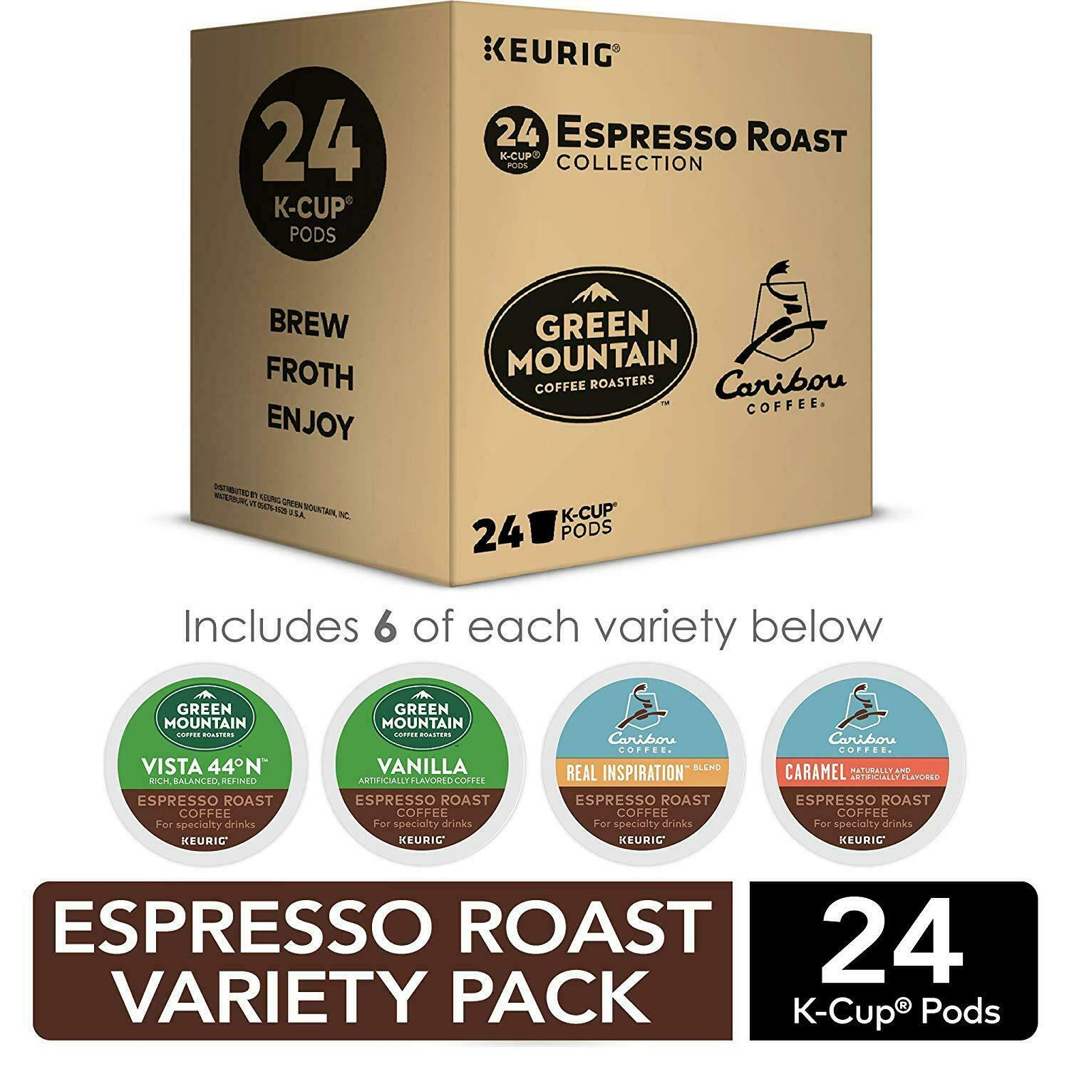 Espresso Roast Variety Sampler Pack, Single-Serve Coffee K