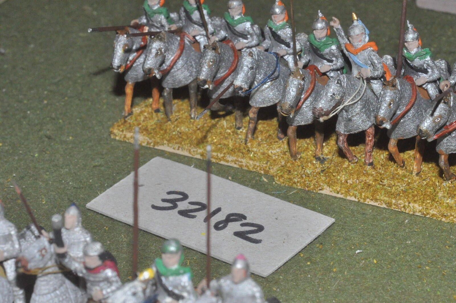 25mm roman era   persian - cataphracts 8 figures - cav (32182)