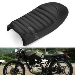 Motorcycle-53cm-Hump-Seat-Flat-Saddle-Vintage-Retro-Cafe-Racer-Cushion-For-Honda
