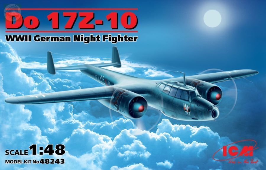 Dornier Do 17 Z-10 WWII German Night Fighter ICM 48243 1 48