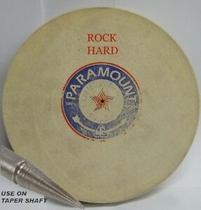 "6"" DIA 1/4"" WIDE ROCK HARD PARAMOUNT FELT WHEEL BUFF PIN HOLE POLISHING BUFFING"